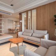 日式原木客厅背景墙设计