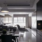 后现代风格简约公寓客厅整体橱柜装饰