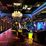 酒吧简约风格地板效果图