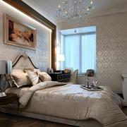 欧式简约风格卧室墙饰壁纸装饰