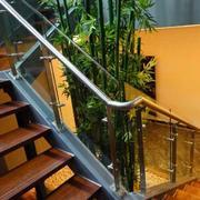 中式简约原木楼梯装饰