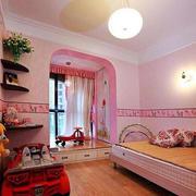欧式粉色系阳台榻榻米装饰