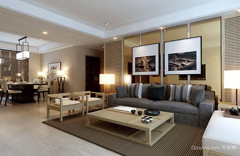 原木设计追求简洁纯净生活的两居室房屋装修效果图
