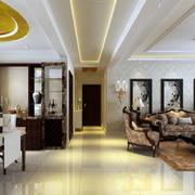 现代简约风格走廊吊顶设计