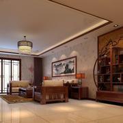 中式客厅简约置物架装饰