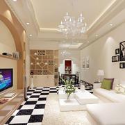 简约客厅原木酒柜设计