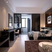 后自动风格公寓客厅装饰