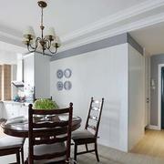 欧式公寓餐厅桌椅装饰