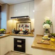 简约风格厨房样板房装饰