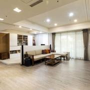 商品房客厅原木地板装饰