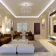 后现代风格简约客厅沙发背景墙