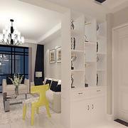 现代简约风格白色客厅隔断