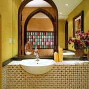 东南亚风格卫生间洗漱池装饰