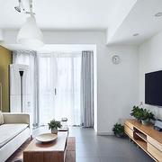 日式风格客厅简约电视柜设计