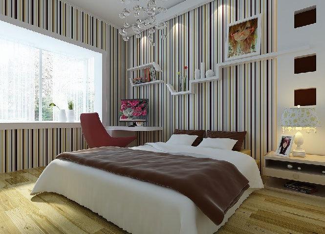 个性卧室设计:不一样的的卧室背景墙装修图