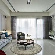 后现代风格客厅简约吊顶装饰