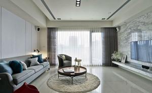 2015现代简约白色客厅装修效果图