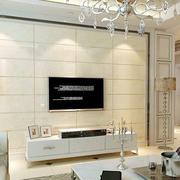 简欧客厅石膏板电视背景墙