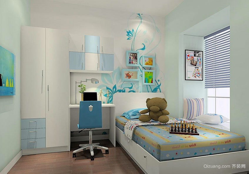 打造高颜值的酷炫小男孩儿童房装修设计效果图