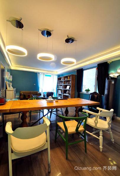 被风吹过的夏天:清爽个性三室一厅家庭装修效果图