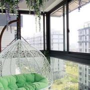 北欧风格清新阳台吊床设计