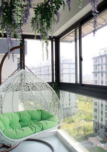 家与大自然的桥梁:阳台装修效果图