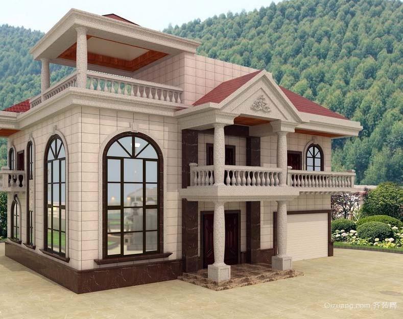 全新时尚:新农村二层别墅外观装修效果图