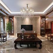 新中式风格客厅茶几设计