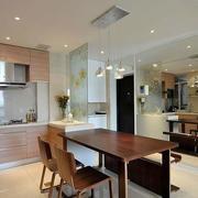 后现代风格原木厨房桌椅设计