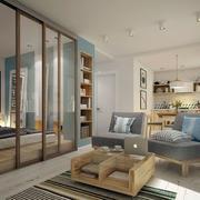混搭风格浅色客厅效果图