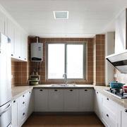 公寓U型厨房装修效果图