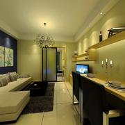 后现代风格暖色系客厅装饰