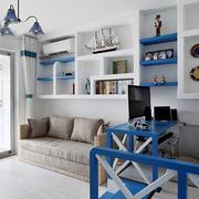 地中海风格婚房客厅置物架设计
