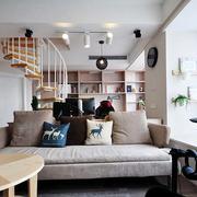 日式混搭风格客厅沙发装饰