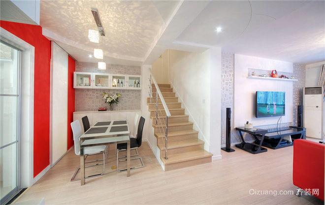 150平米红色简约装饰浪漫婚房装修效果图