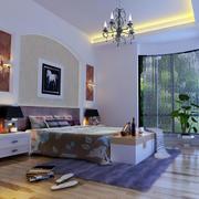 欧式简约风格别墅卧室设计