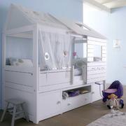 欧式简约白色儿童房效果图
