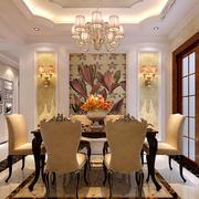 欧式奢华餐厅桌椅装修