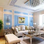 简欧客厅奢华沙发设计