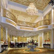 欧式复式别墅客厅设计