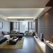 120平米房屋客厅沙发背景墙