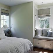 都市风格卧室飘窗设计