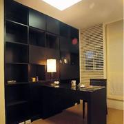 后现代风格深色书柜设计