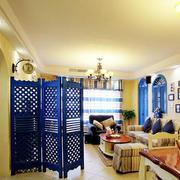 地中海风格客厅移动屏风隔断装饰