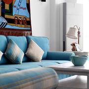 地中海风格婚房客厅沙发装饰