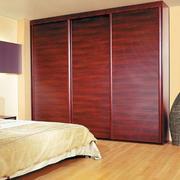 简约风格卧室红木衣柜