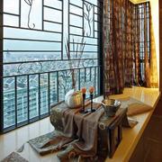 120平米房屋阳台榻榻米装饰