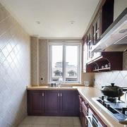 大型公寓厨房背景墙装饰