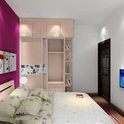 现代简约风格卧室电视背景墙
