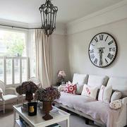 三室一厅美式简约客厅效果图